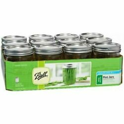 Kyпить Ball Glass Mason Jars with Lids & Bands, Wide Mouth, Clear, 16 oz, 12 Count на еВаy.соm