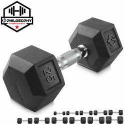 Kyпить Rubber Coated Hex Dumbbell Hand Weights, 5 to 50 lbs - Workout Strength Training на еВаy.соm