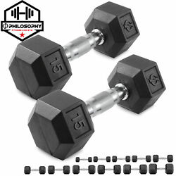 Kyпить Rubber Coated Hex Dumbbell Hand Weights, 5 to 50 lb Pairs - Strength Training на еВаy.соm