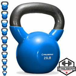 Kyпить Vinyl Coated Cast Iron Kettlebell Weight, 5 - 50 lbs - Workout Strength Training на еВаy.соm