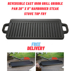 Kyпить Reversible Cast Iron Grill Griddle Pan 20