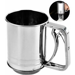 Kyпить Snowyee Flour Sifter, for Baking Stainless Steel 3 Cup Double Layers Sieve with  на еВаy.соm