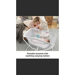 Kyпить Fisher Price Rock with Me Bassinet Folds for easy storage  portable Ocean Sands на еВаy.соm