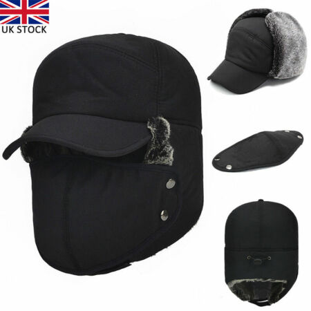 img-Unisex Aviator Bomber Wolly Ear Flaps Hat Winter Warm Skiing Cap Trooper Trapper