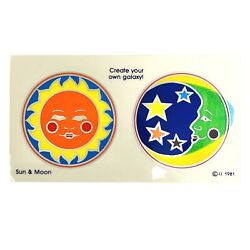 Vintage Stickers Sun And Moon Sunstreamer 1981 Create Your Own Galaxy Celestial