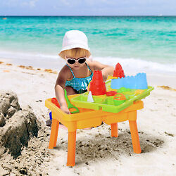 23 Piece Sand and Water Table for Toddlers with Lid Accessories, Multicolor