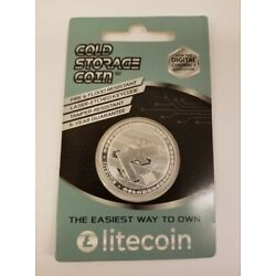 Kyпить 1OZ .999 PURE SILVER LITECOIN Cold Storage Coin Crypto LTC Wallet на еВаy.соm