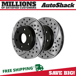 Kyпить Front Drilled Slotted Disc Brake Rotors Pair 2 for Chevy Silverado 1500 Tahoe V8 на еВаy.соm
