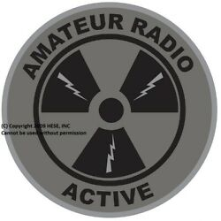 Amateur Radio Active SUBDUED WINDOW 4 Inch Decal Free Domestic S&H
