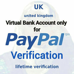 Kyпить UK VIRTUAL BANK ACCOUNT VBA FOR UK PAYPAL VERIFICATION UNITED KINGDOM LEFT LIMIT на еВаy.соm