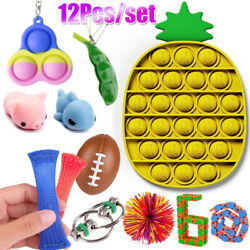 Kyпить Anti Stress Gift 12pcs/pack Adults Children Relief Push Bubble Figet Toys Set US на еВаy.соm