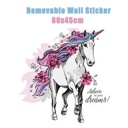 Beautiful Flower Running Horse Removable PVC Wall Sticker Wall Background