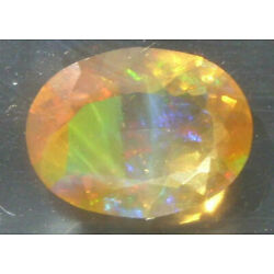 1.11ct Faceted Mexican Precious Conta Luz Fire Opal With Color Play SPECIAL
