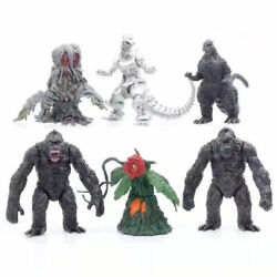 Kyпить Godzilla Gojira 2021 Movie Monster Godzilla vs. King Kong 6 Pcs Action Figures на еВаy.соm