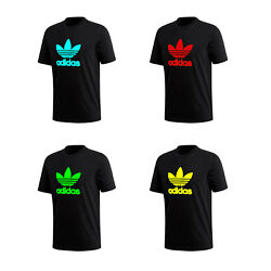 Kyпить Adidas Men's T-Shirt Trefoil Logo Graphic T-Shirt  (Green,Red,Aqua,Yellow) на еВаy.соm