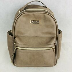 Kyпить Itzy Ritzy Mini Diaper Bag Backpack Taupe Chic Baby Products Leather на еВаy.соm