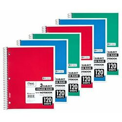 Kyпить  Spiral Notebook, 3 Subject, College Ruled, 8 x 11 Inch, 120 Sheets, Pack of 6   на еВаy.соm