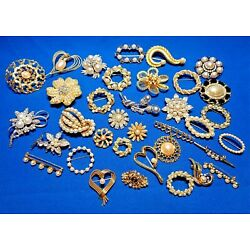 Kyпить 30 Piece LOT Vintage & Modern FAUX PEARL Adorned Pins, BROOCHES на еВаy.соm