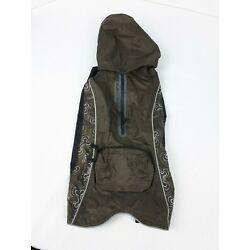 Dog Jacket Brown With Detail On Sides Size 36cm or 14in Rogz Rainskin Top Pouch