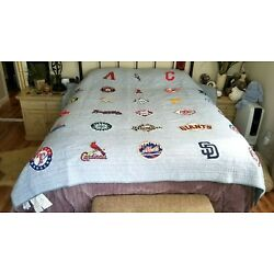 Kyпить Pottery Barn Teen MLB BASEBALL LOGO Quilt NWOT FULL QUEEN      #18 на еВаy.соm