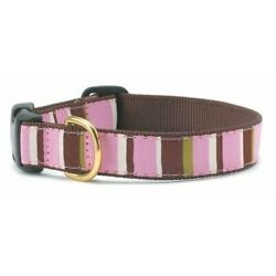 Up Country - Dog Puppy Design Collar - Made In USA - City Stripe - Medium or XXL