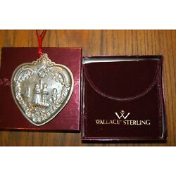 Kyпить Wallace Sterling Silver Grande Baroque Heart Christmas Ornament 2004 With Box на еВаy.соm