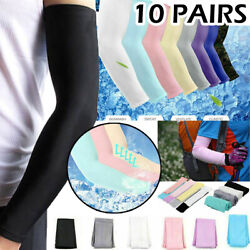 Kyпить 10 Pairs Cooling Arm Sleeves UV Sun Protection Cover Outdoor Sport Cycling Golf на еВаy.соm