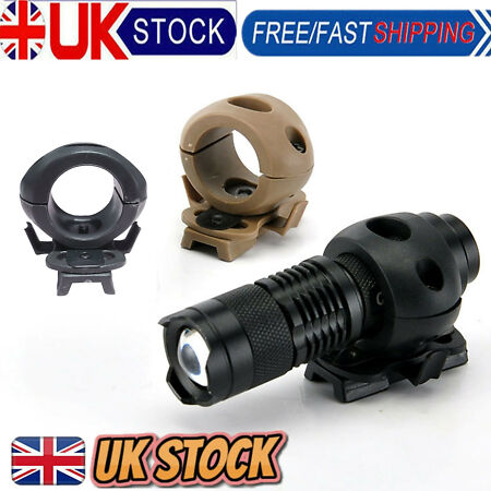 img-Pro Outdoor Tactical Quick Release Flashlight Clamp Holder Mount Fast Helmet