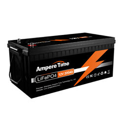Ampere Time 12V 200AH LiFePO4 Deep Cycle Lithium Iron Phosphate Battery for RV