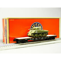 LIONEL  BOSTON & MAINE 40' FLAT CAR WITH TANK #33700 O GAUGE freight 1926701 NEW