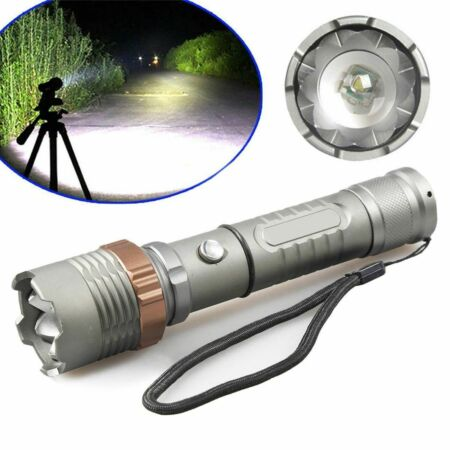 img-High Power 900000LM Rotate LED Flashlight Outdoor Military Handheld Torch Light