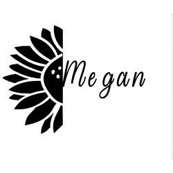 personalized name sunflower decal
