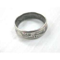 Vintage Hand Made Coin Ring 1943 Walking Liberty WLH 90% Silver Size 11.75 Q3JY