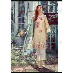 LADIES THREE PIECE STITCHED SUIT ELAF INSPIRED  EID COLLECTION 2021
