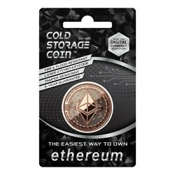 ETHEREUM Cold Storage Coin Crypto Wallet 1 Ounce .999 Fine Copper