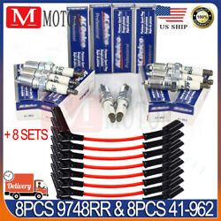 8x 9748RR Wires & ACDelco 41-962 Spark Plugs Set For Chevy GMC 4.8L 5.3L 6.0L V8