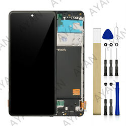 For Samsung Galaxy A51 SM-A515F/DSN LCD Touch Screen Digitizer Assembly + Frame
