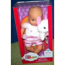 Fisher Price Little Mommy Cuddle & Care 12'' Baby Doll with plush bunny New