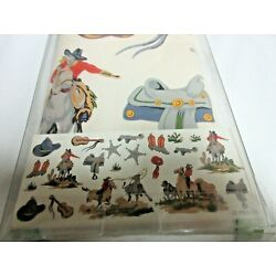 Waverly Kids Boys Wall Appliques 21 Pieces Cowboy Western Rodeo Wild West