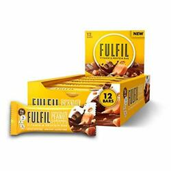 FULFIL Vitamin and Protein Bars Chocolate Peanut and Caramel, Snack Sized Bar