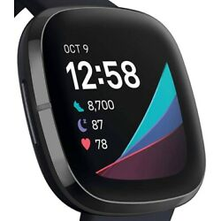 Fitbit SenseHealth & Fitness Tracker PEBBLE ONLY Carbon