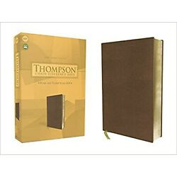 KJV Thompson Chain Ref Bible soft leather-look brown BRAND NEW in Shrink Wrap!!!
