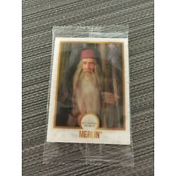 MERLIN Harry Potter Wizarding Chocolate Frog Lenticular Card SEALED New in Set!
