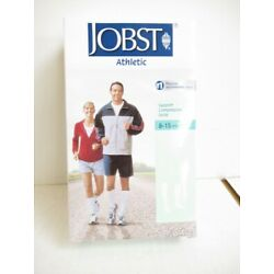 Jobst 110451 Athletic White 8-15mmHg Large Knee CT Support Compression Socks NEW