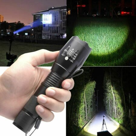 img-Most Bright 990000LM Military LED Flashlight Strong Light Powerful Camping Torch