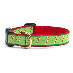 Up Country - Dog Puppy Design Collar -Made In USA - Candy Cane - XS S M L XL XXL