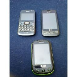 3 old cell phones, for parts or repair