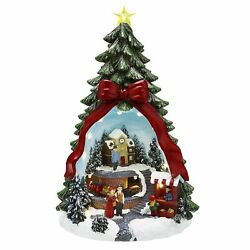 Mr. Christams 13'' LED Illuminated Animated Tree Plays 8 of Your Favorite