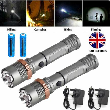 img-2x High Power 990000LM LED Military Flashlight Camping Hunting Torch+Battery Set