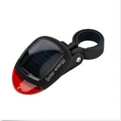 Bicycle Solar Energy Tail Light Mountain Bike Red LED Tail Rear Light Lamp